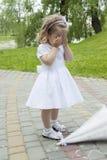 που χάθηκε το κορίτσι ανατρεμμένος ήταν Στοκ φωτογραφία με δικαίωμα ελεύθερης χρήσης