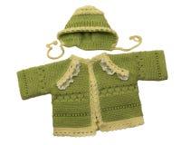 Πουλόβερ και καπέλο μωρών στοκ εικόνα