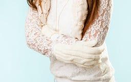πουλόβερ κοριτσιών θερμό Στοκ Φωτογραφίες