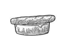 Πούρο και ashtray Διανυσματική εκλεκτής ποιότητας μαύρη απεικόνιση χάραξης Στοκ Εικόνα