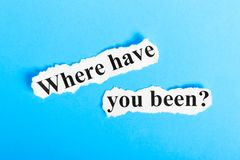 Πού σας έχει όντας το κείμενο σε χαρτί Λέξεις πού σας έχει όντας σε ένα κομμάτι χαρτί σωστό μόνιμο κείμενο υπολοίπου εικόνας ειδω στοκ εικόνες με δικαίωμα ελεύθερης χρήσης