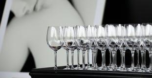 Πολλά γυαλιά για τα ποτά Στοκ Εικόνες