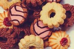 Πολλά είδη διαφορετικών μπισκότων Στοκ Εικόνες
