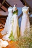 Φορέματα νυφών στοκ φωτογραφίες