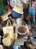 Πολλά καλάθια καλάμων, αγορές της Αθήνας Στοκ Φωτογραφία