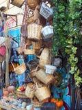 Πολλά καλάθια καλάμων, αγορές της Αθήνας Στοκ φωτογραφία με δικαίωμα ελεύθερης χρήσης