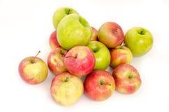 Πολλά μήλα που απομονώνονται στο άσπρο υπόβαθρο Στοκ Εικόνες