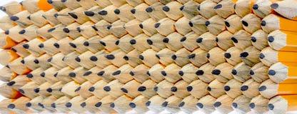Πολλά μικρά μολύβια σε ένα κιβώτιο έτοιμο για χρήση Στοκ Φωτογραφία