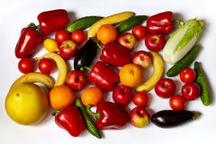 Πολλά νόστιμα λαχανικά και φρούτα Στοκ φωτογραφίες με δικαίωμα ελεύθερης χρήσης