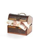 Πολλά ρωσικά χρήματα σε κλειστά θωρακικά ρούβλια Στοκ εικόνα με δικαίωμα ελεύθερης χρήσης