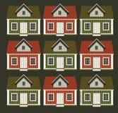 Πολλά σπίτια υπό μορφή διακόσμησης Στοκ Εικόνα