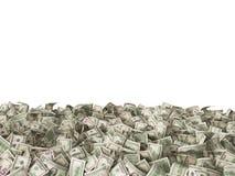 Πολλά τραπεζογραμμάτια 1 και 5 και 100 δολαρίων στο έδαφος Στοκ Φωτογραφίες