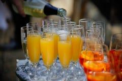 Πολλά glases του champagner Στοκ φωτογραφία με δικαίωμα ελεύθερης χρήσης