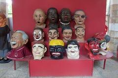 Πολλές λαϊκές μάσκες τέχνης Στοκ Φωτογραφίες