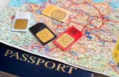 Πολλές κάρτες sim Στοκ φωτογραφίες με δικαίωμα ελεύθερης χρήσης