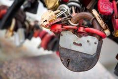 Πολλές μικρές κλειδαριές Στοκ Εικόνα