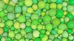 Πολλές πράσινες σφαίρες χρώματος παραλλαγής Στοκ εικόνα με δικαίωμα ελεύθερης χρήσης