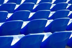 Πολλές σκούρο μπλε πολυθρόνες Στοκ εικόνες με δικαίωμα ελεύθερης χρήσης
