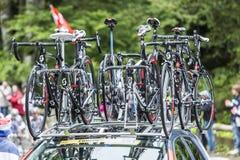 Ποδήλατα του Scott - γύρος de Γαλλία 2014 Στοκ Φωτογραφίες