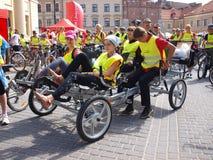 ποδήλατο τέσσερα Lublin Πολωνία που κυλιεεται Στοκ Φωτογραφία