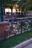ποδήλατα αναδρομικά Στοκ φωτογραφίες με δικαίωμα ελεύθερης χρήσης