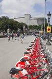 Ποδήλατα για το μίσθωμα στη Βαρκελώνη Στοκ φωτογραφία με δικαίωμα ελεύθερης χρήσης
