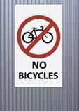 ποδήλατα κανένα απαγορευμένο σημάδι Στοκ φωτογραφίες με δικαίωμα ελεύθερης χρήσης