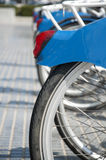 Ποδήλατα που σταθμεύουν Στοκ Φωτογραφίες