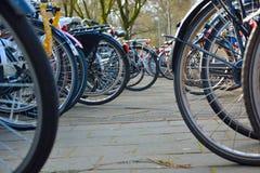ποδήλατα που σταθμεύου Στοκ Φωτογραφία