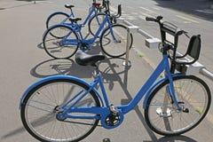 Ποδήλατα πόλεων Στοκ Εικόνες