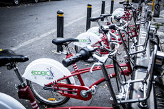 Ποδήλατα πόλεων Ecobici στην Πόλη του Μεξικού Στοκ Φωτογραφία