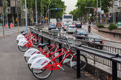 Ποδήλατα στη Βαρκελώνη Στοκ εικόνα με δικαίωμα ελεύθερης χρήσης
