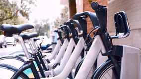 Ποδήλατα στις οδούς του Μόντρεαλ Στοκ εικόνα με δικαίωμα ελεύθερης χρήσης