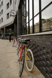 Ποδήλατα στο ξενοδοχείο άσσων, Shoreditch Στοκ εικόνα με δικαίωμα ελεύθερης χρήσης