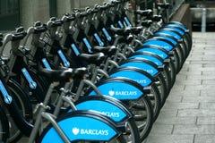 Ποδήλατα της Barclays Στοκ εικόνες με δικαίωμα ελεύθερης χρήσης
