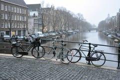 ποδήλατα του Άμστερνταμ Στοκ Εικόνες