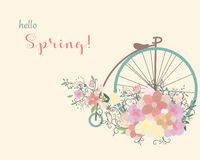 Ποδήλατο άνοιξη στοκ φωτογραφίες