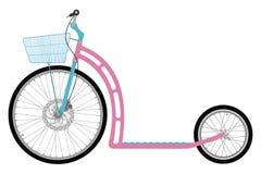 Ποδήλατο λακτίσματος με το καλάθι διανυσματική απεικόνιση