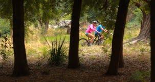 Ποδήλατο ανακύκλωσης ζεύγους απόθεμα βίντεο