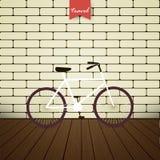 Ποδήλατο απεικόνισης πέρα από το τουβλότοιχο Στοκ Φωτογραφία