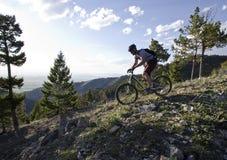 Ποδήλατο βουνών προς τα κάτω Στοκ Εικόνες