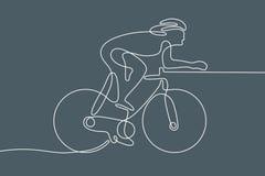 ποδήλατο Γραμμική γραμμή γραφική Στοκ φωτογραφία με δικαίωμα ελεύθερης χρήσης