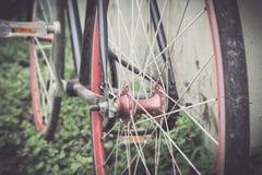 Ποδήλατο λεπτομερειών με τον εκλεκτής ποιότητας τόνο Στοκ φωτογραφίες με δικαίωμα ελεύθερης χρήσης