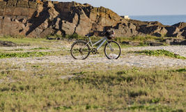 Ποδήλατο και άμμος Στοκ Εικόνες