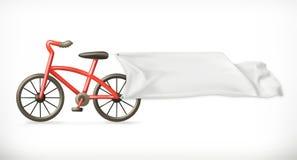Ποδήλατο και άσπρο έμβλημα Στοκ φωτογραφία με δικαίωμα ελεύθερης χρήσης