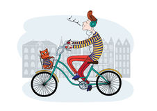 Ποδήλατο και αγόρι Στοκ εικόνες με δικαίωμα ελεύθερης χρήσης
