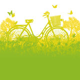 Ποδήλατο και καλάθι ποδηλάτων Στοκ Εικόνα