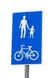 Ποδήλατο και κοινό πεζός σημάδι διαδρομών Στοκ Φωτογραφίες