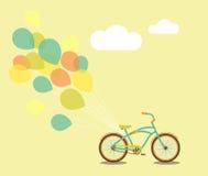 Ποδήλατο και μπαλόνια Στοκ Φωτογραφίες