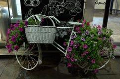 Ποδήλατο με τη διακόσμηση λουλουδιών Στοκ Εικόνες